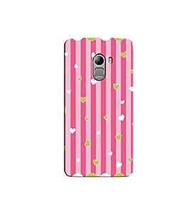Citydreamz Pink Stripes/Hearts/Love Hard Polycarbonate Designer Back Case Cover For Lenovo K4 Note