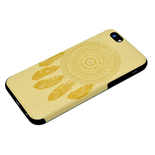 Custodia inShang cover per iPhone 7 4.7 Cellulare,super slim e leggero TPU materiale Cover posterior stili per iPhone7 4.7 inch + inShang Logo pennino di alta classe Yellow chimes
