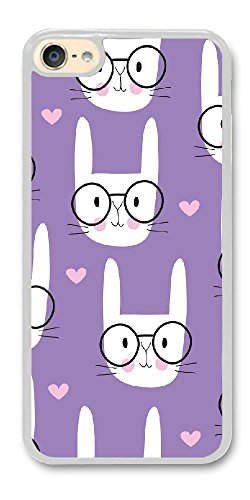 BBMMcase Personalize ipod Touch 6 Cases - White Rabbit Hard Plastic Phone Cell Case for ipod Touch 6