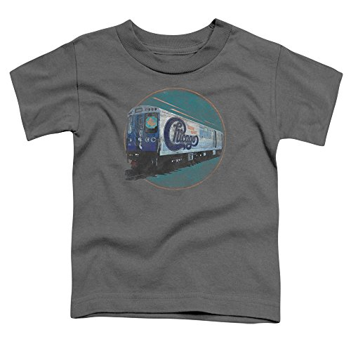 Chicago - Kleinkinder The Rail-T-Shirt, 4T, Charcoal (Chicago Kleinkind-shirt)