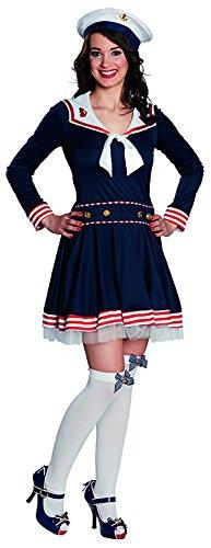 Kostüm Matrosin Madeleine Kleid blau Seefahrerin Karneval Marine Navy (Madeleine Kostüme)