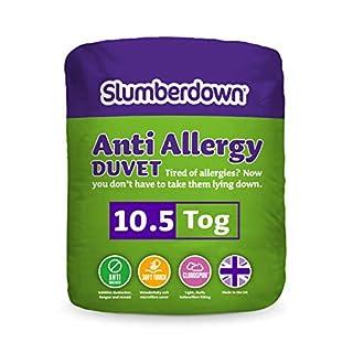Slumberdown Anti Allergy 10.5 Tog Duvet, White, Double