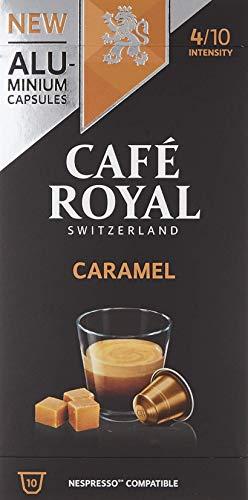Café Royal 50 Caramel Flavoured Edition Nespresso (R)* kompatible Kapseln aus Aluminium - Intensität 4/10 - 50 Kaffeekapseln (5 x 10 Pack) - UTZ - Kompatibel mit Nespresso (R)* Kaffeemaschinen