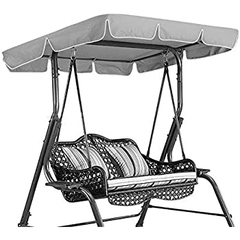 Only For Outdoor Seat Hammock Gardenista Garden Replacement Summer Canopy Great for Sun Shade 2 Seater, Green Water Resistant