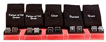 9 sets of WEDDING SOCKS & CUFFLINKS Bestman Groom Usher