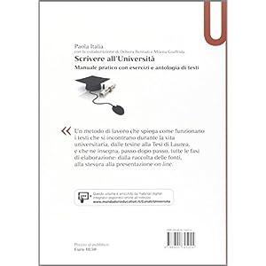 Scrivere all'Università. Manuale pratico con eser