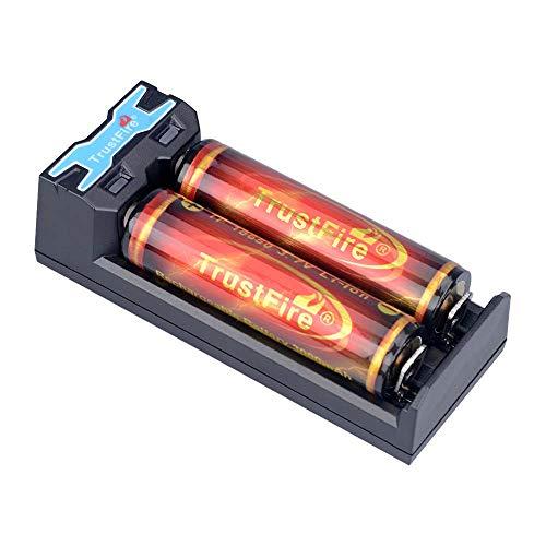 TrustFire TR-016 USB Akku Ladegerät Batterie Akkuladegerät für Li-Ion IMR 18650 10440 14500 16340 17335 17670 18350 18500 Wiederaufladbare Batterie 3,7V Lithium Akkus (Batterien Nicht enthalten) - 18650 Lithium-batterie