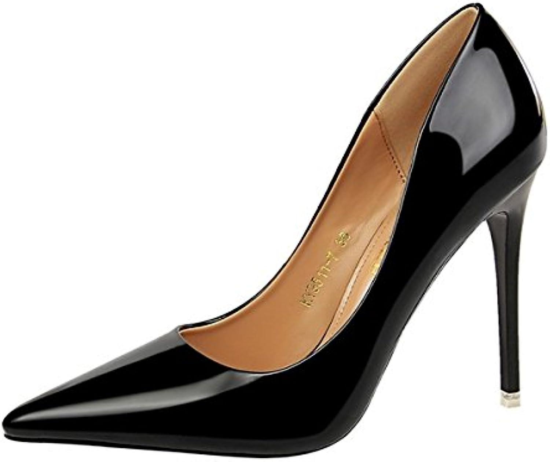 DIMAOL Damenschuhe Kunstleder Frühling Herbst Komfort Heels Stiletto Heel Schuhe für Party & Abend Champagnerö
