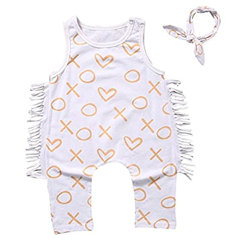 Newborn Toddler Baby Girl Boy Print Romper Jumpsuit Clothes Outfit