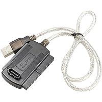 Rokoo El nuevo USB 2.0 a IDE SATA 5.25 S-ATA de 2,5 / 3,5 pulgadas de cable adaptador para PC portátil
