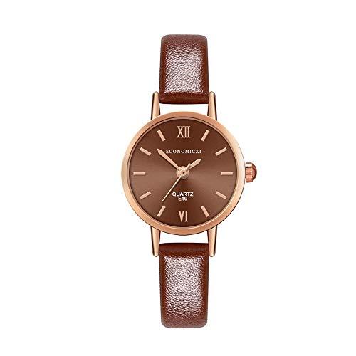 Floweworld Damen Lederband Analog Quarz Uhren Runde Armbanduhr Uhren Mode Uhren 2019