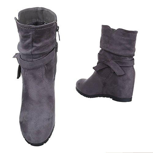 Ital-Design , chaussures compensées femme Gris
