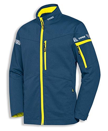 uvex Safety metal 8939 Leichte Arbeitsjacke, 60% Baumwolle, Sicherheitsjacke für Herren und Damen, auch als Freizeitjacke verwendbar, mit Reflektoren (98/102, Blau)