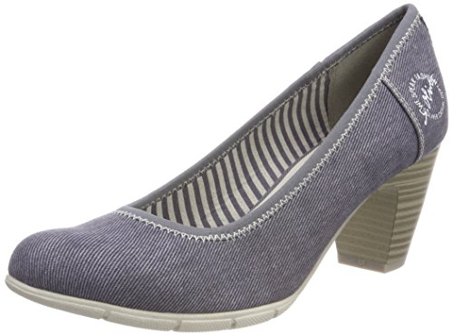 s.Oliver Damen 22405 Pumps, Blau (Denim), 38 EU