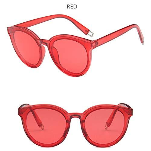 LLISA Mode Frauen Farbe Flat Top Cat Eye Sonnenbrille Elegante Männer Twin Beam Übergroße Sonnenbrille Uv400,10