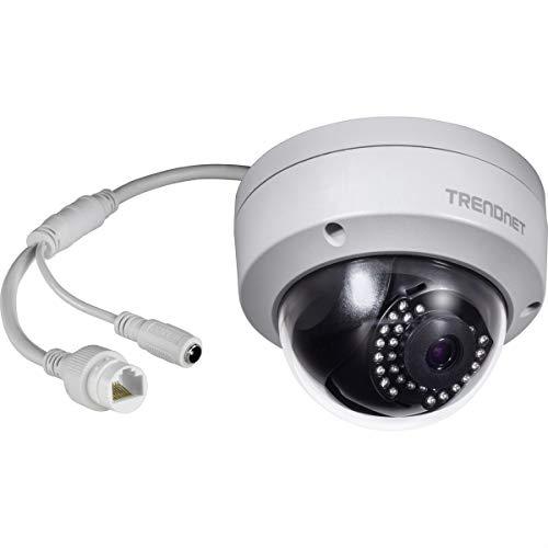 TRENDnet Indoor/Outdoor 1MP H.264 PoE IR Kuppel-Netzwerkkamera, Nachtsicht bis zu 30 Meter (98 Fuß), IP67, Bewegungserkennung, TV-IP325PI
