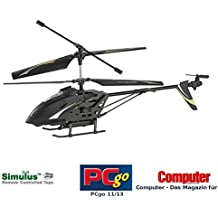 "Simulus Helikopter mit Kamera: 3,5-Kanal-Hubschrauber mit HD-Kamera ""GH-301.HD"" (Fernlenk-Hubschrauber)"