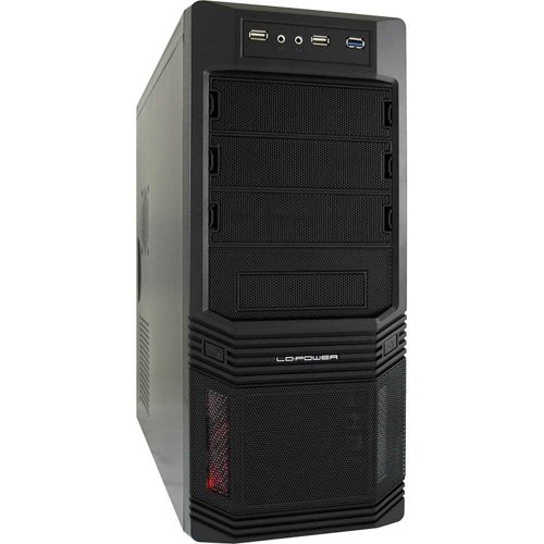 LC-Power Pro-925B Midi-Tower PC-Gehäuse inkl. 600W (3x 5,25 externe, 3x 3,5 interne, USB 3.0)