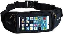 TTLIFE 3C Riñonera táctil para correr senderismo ciclismo montañismo Bolsillo Deportivo cinturones contra el Sudor y Reflectante Compatible y Elástico para guía de libros electrónicos cualquier smartphone -iPhone 6 / 6S / se Samsung Note de galaxia t