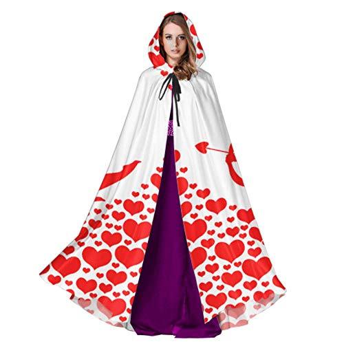QuqUshop Netter Amor Mit Pfeil Und Bogen Herren Kapuzen Mantel Damen Mantel Mit Kapuze 59 Zoll Für Weihnachten Halloween Cosplay Kostüme