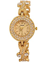 Rabela Women's Analogue Golden Dial Watch RAB-842