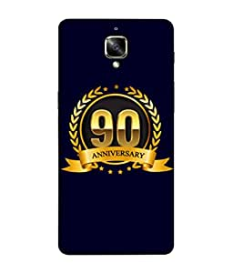 OnePlus 3T, OnePlus ThreeT, One Plus 3T Back Cover 90th Aniversary Golden Logo Design From FUSON