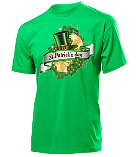 St.Patrick`S Day 4568 Herren T-Shirt (H-Kellygrün) Gr. M (T-shirt Kobold-grün)