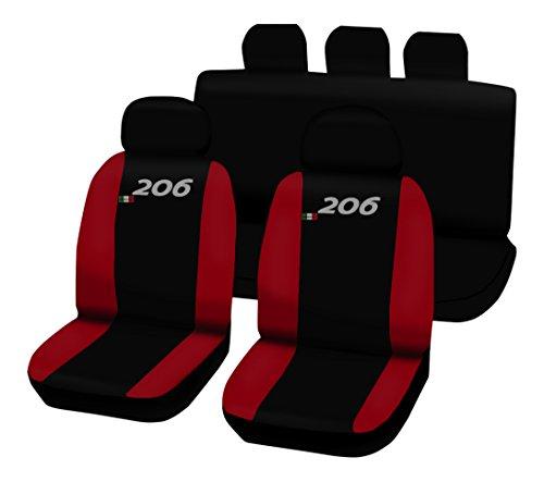 Lupex Shop 206.N.R Coprisedili Bicolore, Nero/Rosso