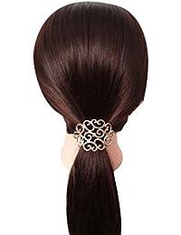 Vogue Hair Accessories Golden Latest Stylish Rubber Band Ponytie Hair Accessories For Women