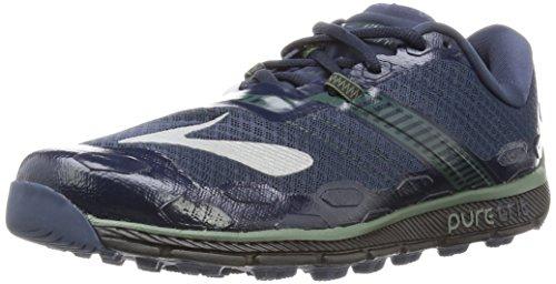 Brooks Mens Pure Grit 5 Trail Running shoe - Blue/Green/Black, 10 UK