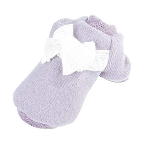Medium Hunde Kostüm - Topker Flannelette Bowtie Haustier-Teddy-Mantel-Welpen Zwei Füße