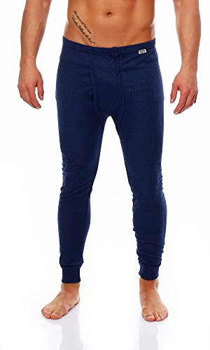 Herren Thermo Unterhosen Lang ,gerippt, verschiedene Farben und Größen ! Farbe Dunkelblau Größe 5 (Winter Lange Unterhose)