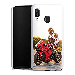 DeinDesign Hülle kompatibel mit Samsung Galaxy A40 Handyhülle Case Meddes Motorrad Youtuber