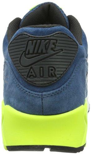 Nike Air Max 90 Essential, Baskets mode mixte adulte Blu (Blue / Black / Volt)