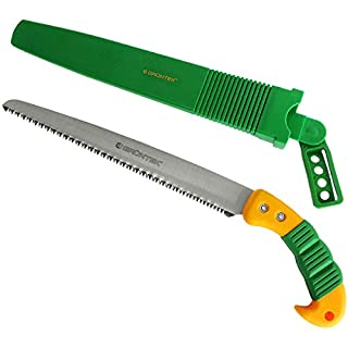 GRÜNTEK Barracuda Garden Saw Quick Cut Hand Saw with hardened 3D-Teeth and plastic holster