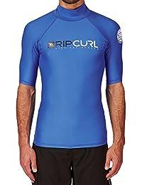 2016 Rip Curl Shock S/S High-Collar Rash Vest in Blue WLE5NM