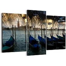 Cuadro sobre lienzo - 3 piezas - Impresión en lienzo - Ancho: 130cm, Altura: 100cm - Foto número 0250 - listo para colgar - en un marco - CB130x100-0250