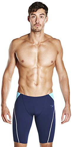 Speedo Herren Fit Splice Jammer Swimwear, blau (Navy/Turquoise/Lava Red), 3