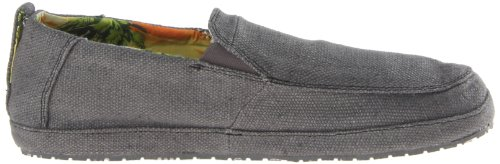 Sanuk Mens Seeker Slip-On Loafer Charcoal