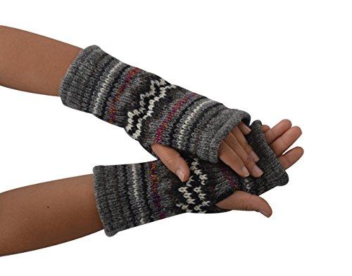 TATTOPANI Donna lane scaldino fleece lined multicolore aztec inverno mano scaldino guanti