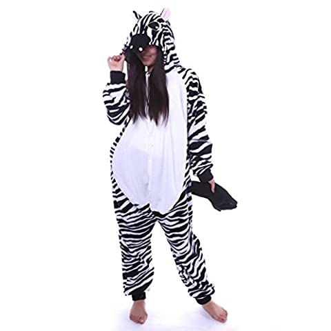 iPerry Cosplay Kostüme Tierkostüme Erwachsene Pyjamas Kostüm Pyjamas von Keral Zebra
