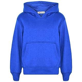 A2Z 4 Kids Kids Girls Boys Sweat Shirt Tops Casual Plain Pullover Sweatshirt - Plain Sweat Hoodie Royal 3-4