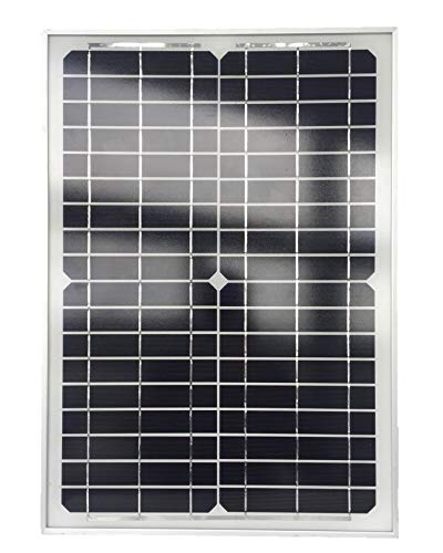 Descripción del producto: panel solar de 20 W con paneles solares monocristalinos. Ideal para sistemas de 12 V (por ejemplo, baterías de 12 V, bombas de estanque, autocaravanas, barcos, casas de jardín, etc.). Características importantes de los panel...