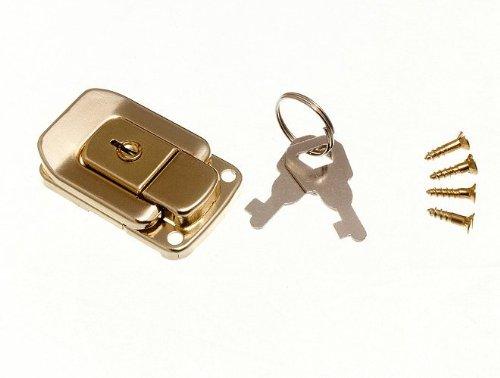 Schließkasten Schließe Toggle Befestigung Trunk Catch & 2 Schlüssel 48mm 33mm Eb (Pk 200)