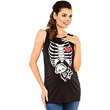 Zeta Ville - Camiseta Premamá Top rayos X bebé auriculares - para mujer - 506c