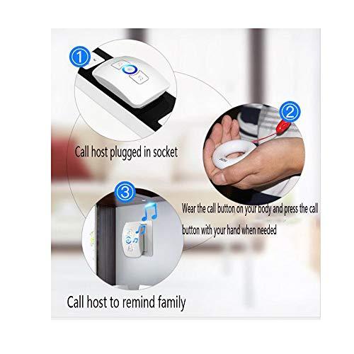 Meng-pager Localizador De Ancianos/Embarazo / Niños Timbre Inalámbrico En El Hogar Paciente Presionando Una Tecla De Emergencia