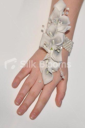 floristikvergleich.de Modernes Elfenbeinfarben Calla Lily Handgelenk Corsage W/Pearl Armband