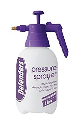 Defenders 2 Litre Pressure Sprayer (Pump-Action Bottle, Adjustable Nozzle, Use with Water or Soluble Products) from STV International Ltd