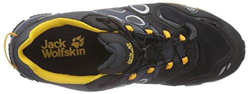 Jack Wolfskin Trail Excite Texapore Low M, Chaussures Multisport Outdoor homme Noir - Noir (Jaune burly 3800)