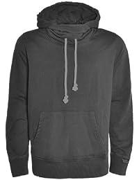 Urban Surface Herren Hoodie Kapuzensweater in Vintage washed melange Optik mit Kapuze - Farbe wählbar -